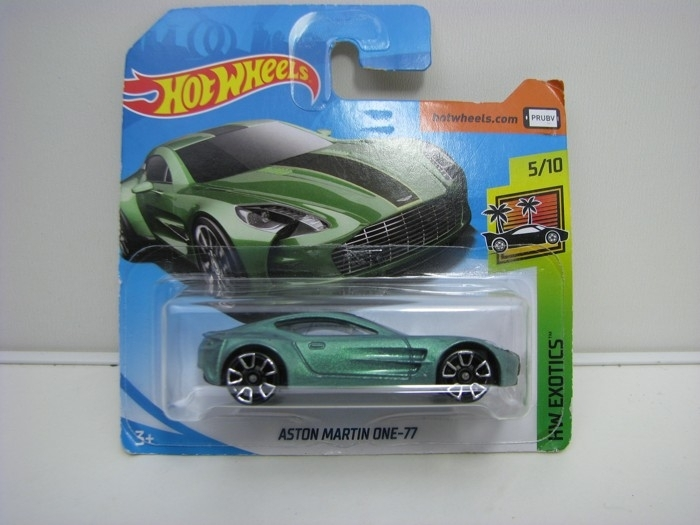 Aston Martin One-77 Green Hot Wheels Exotics-2018